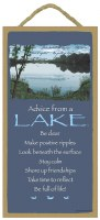 "SJT Enterprises Advise From A Lake Sign 5""x10"""