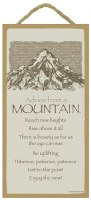 "SJT Enterprises Advise From A Mountain Sign 5""x10"""