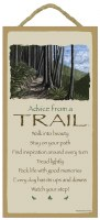 """SJT Enterprises Advise From A Trail Sign 5""""x10"""""""