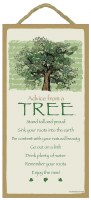 """SJT Enterprises Advise From A Tree Sign 5""""x10"""""""