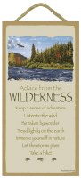 """SJT Enterprises Advise From The Wilderness Sign 5""""x10"""""""