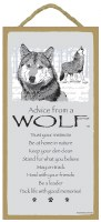 """SJT Enterprises Advise From A Wolf Sign 5""""x10"""""""