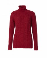 Royal Robbins Frost Turtleneck Large Rumba Red
