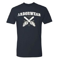 Arborwear Dueling Chainsaw T-Shirt Medium Indigo Blue