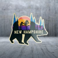 Sticker Pack Nature Bear Scene Decal Large