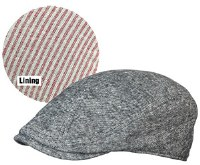 Broner Euro Ivy Cap, Striped Lining M Black Denim