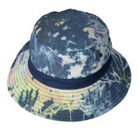 Broner Kids Blue Tie Dye Bucket Hat, Solid Band Youth