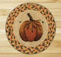 """Capitol Earth Rugs 80-319PP Pumpkin Patch10"""" rd"""