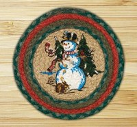 "Capitol Earth Rugs Winter Wonder Round Printed Swatch 10"" x 10"""