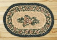 "Capitol Earth Rugs Pinecone Oval Printed Swatch 10"" x 15"""
