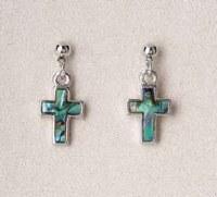 A.T. Storrs Simple Cross Earrings