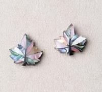 A.T. Storrs Maple Leaf Blush Earrings