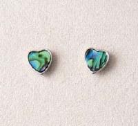 A.T. Storrs Framed Heart Earrings