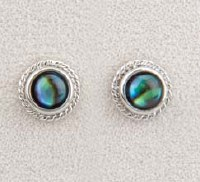 A.T. Storrs Beaded Round Earrings