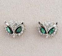 A.T. Storrs Owl Heads Earrings
