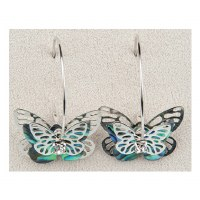 A.T. Storrs Butterfly Hoop Earrings