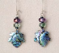 A.T. Storrs Maple Leaf Jewel Earrings