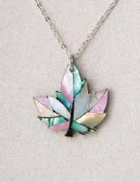 A.T. Storrs Maple Leaf In Necklace
