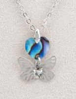 A.T. Storrs Heart & Wings Necklace