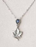 A.T. Storrs Maple Leaf Frost Necklace