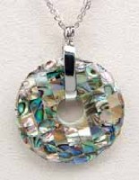 A.T. Storrs Mosaic Wheel Necklace