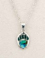 A.T. Storrs Bear Paw Necklace