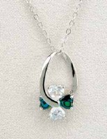 A.T. Storrs Swinging Heart Necklace