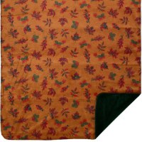 "Denali Falling Leaves Microplush Throw 60""x70"" Pine"