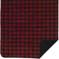 "Denali Large Bunk House Plaid Microplush Throw 60""x70"" Red/Black"