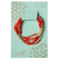 Scout Currated Wears Scout Wrap Bracelet/Necklace SW Coral Combo/Gold