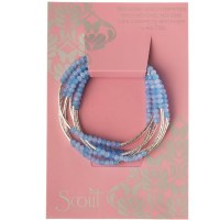 Scout Currated Wears Scout Wrap Bracelet/Necklace SW Periwinkle Combo/Silver