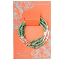Scout Currated Wears Scout Wrap Bracelet/Necklace SW Green/Silver
