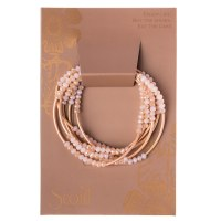 Scout Currated Wears Scout Wrap Bracelet/Necklace SW Pink/Matte Rose Gold