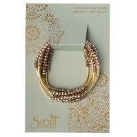 Scout Currated Wears Scout Wrap Bracelet/Necklace SW Oyster/Gold