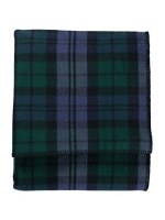 "Pendleton Eco-Wise Washable Wool Plaid/Stripe King Blanket 108""x96"" Black Watch"
