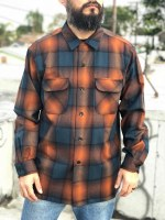 Pendleton Board Shirt Large Brown/Copper Ombre