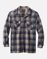 Pendleton Board Shirt Medium Blue/Tan Ombre