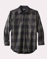 Pendleton Guide Shirt Large Blue Green Buffalo Check