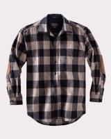 Pendleton Elbow-Patch Trail Shirt Small Buffalo Check/Taupe Mix
