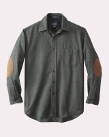 Pendleton Elbow-Patch Trail Shirt Large Blue Green Mix