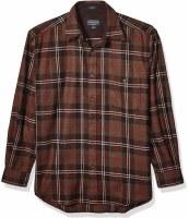 Pendleton L/S Trail Shirt W/Elbow Patch M Brown Plaid