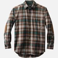Pendleton L/S Trail Shirt W/Elbow Patch L Green/Grey Ombre