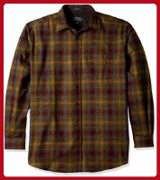 Pendleton Lodge Shirt Medium Maroon/Bronze Ombre