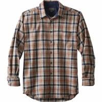Pendleton Lodge Shirt Medium Navy/Brown Plaid