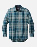 Pendleton Lodge Shirt M Grey/Turq Ombre