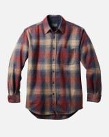 Pendleton Lodge Shirt M Red/Blue/Tan Ombre