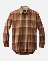 Pendleton Trail Shirt Tall XLT Pumpkin/Brown Ombre