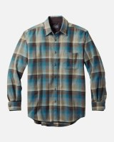 Pendleton Lodge Shirt Tall XXLT Brown/Blue Ombre