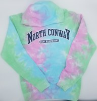 Luba Designs Adult Tie Dye Hoodie Small Seafoam/Aqua/Pink