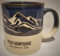A & F Gift and Souvenir Co. New Hampshire Mountains Tall Stein  Cobalt